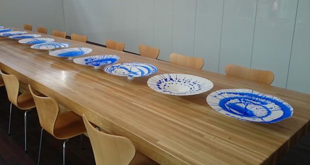 可士和さんの事務所で製作された、紙製の模型